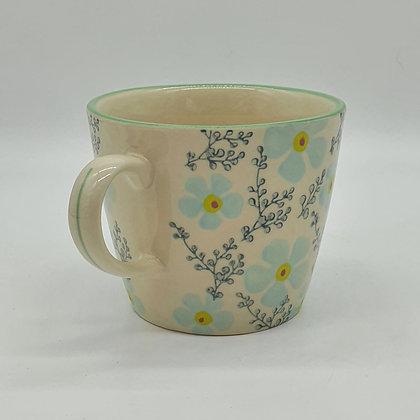 Blue Periwinkle Ceramic Mug