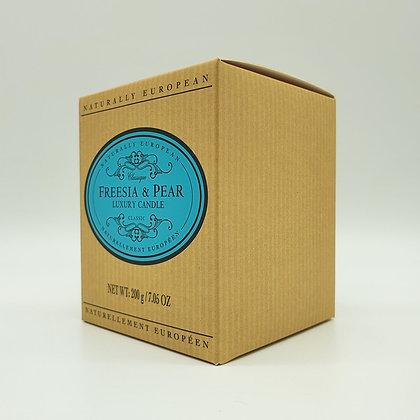 Naturally European Freesia & Pear Luxury Candle