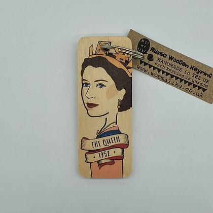 1952 Queen Elizabeth II Wooden Keyring