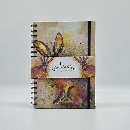 Hare A5 Spiral Bound Hardback Notebook