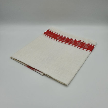 Red Pure Linen Glass Cloth
