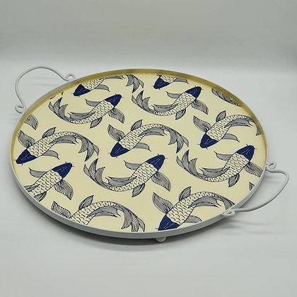 Koi Fish Round Drinks Tray