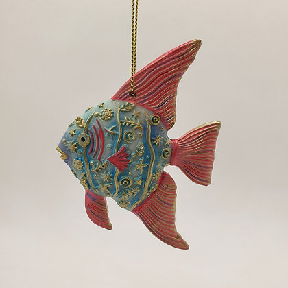 Pastel Tropical Fish Decoration