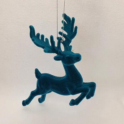 Flocked Turquoise Stag