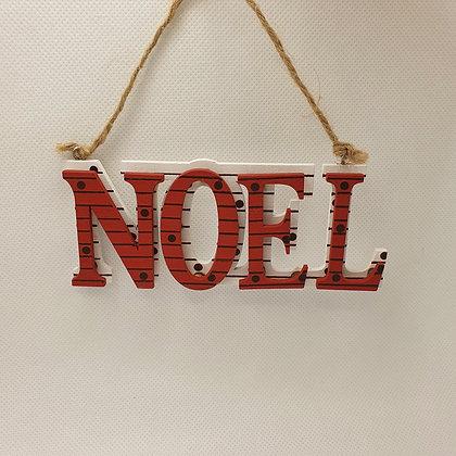 """""""NOEL"""" Sign Decoration"""