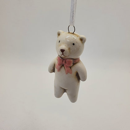 Bear with Pink Bow Decoration