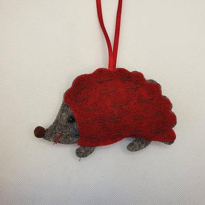 Felt Hedgehog Decoration