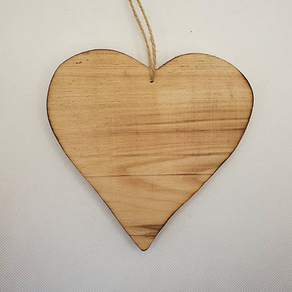 Large Wooden Heart Decoration