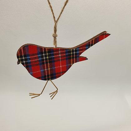 Tartan Robin Decoration