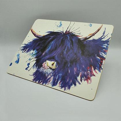 Splatter Highland Cow Placemat
