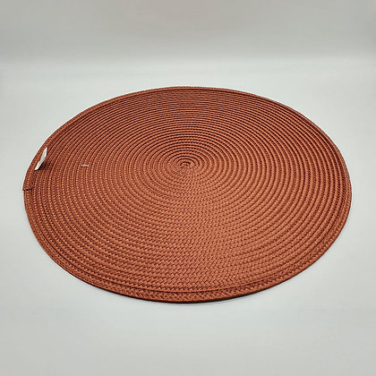 Terracotta Ribbed Circular Placemat