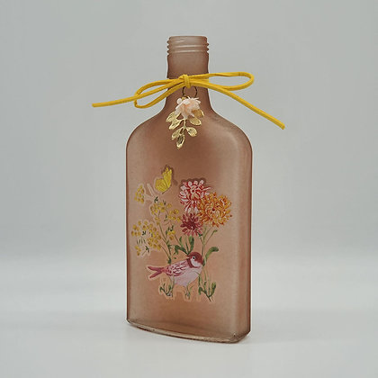 Pink Opaque Spring Glass Bottle
