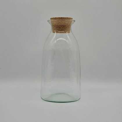 Glass Vase Bottle With Cork Lid