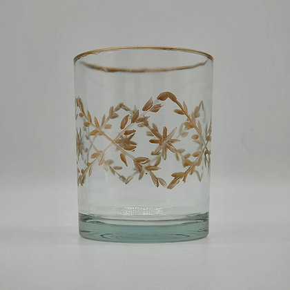 Floral Painted Glass