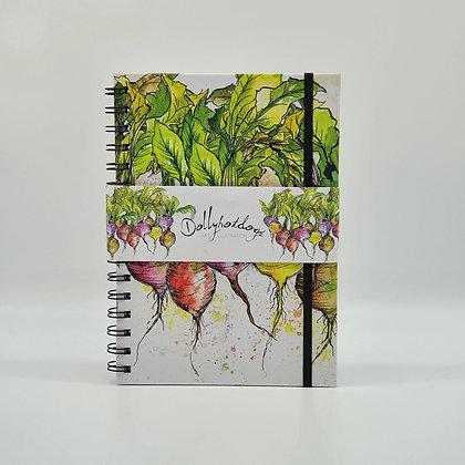 Radish A5 Spiral Bound Hardback Notebook
