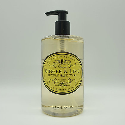 Naturally European Ginger & Lime Luxury Hand Wash