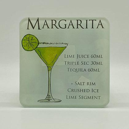 Margarita Ingredient Glass Coaster