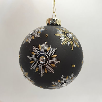 Chic Black & Gold Bauble