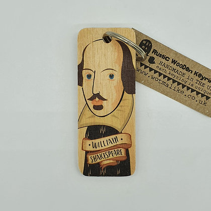 William Shakespeare Wooden Keyring