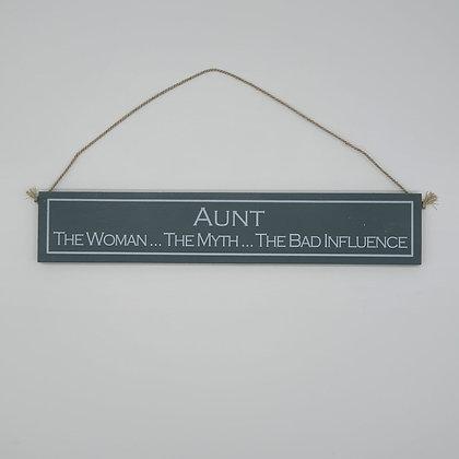 """Aunt"" Comedic Wooden Sign"
