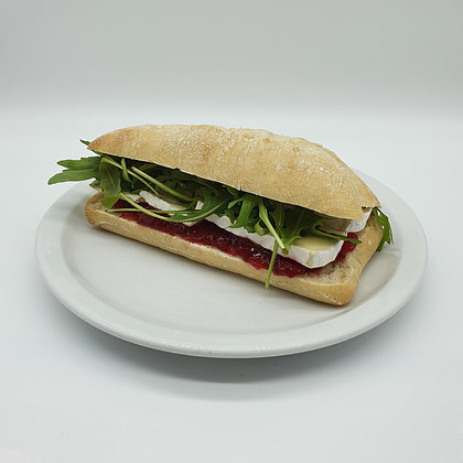 Brie, Cranberry and Rocket Ciabatta (V)