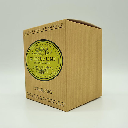 Naturally European Ginger & Lime Luxury Candle
