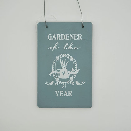 """GARDENER of the YEAR"" Wooden Sign"