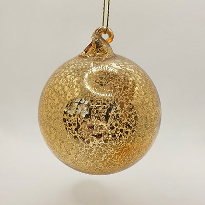 Clear Antique Gold Bauble