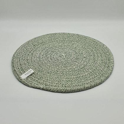 Mint Melange Circular Rope Placemat