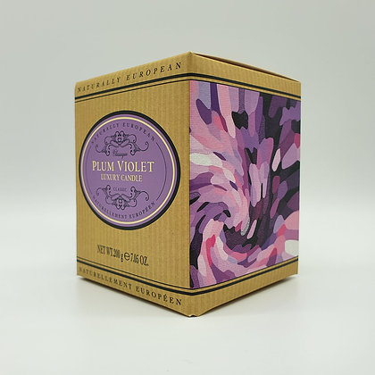 Naturally European Plum Violet Luxury Candle
