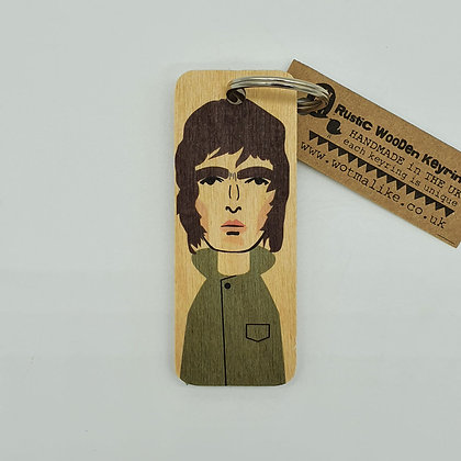Liam Gallagher Wooden Keyring