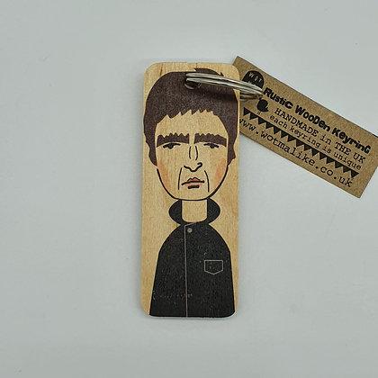 Noel Gallagher Wooden Keyring