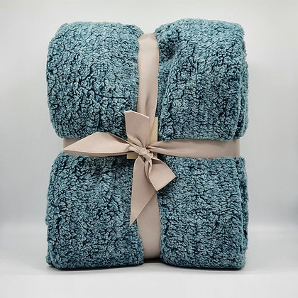 Teal Cosy Cloud Throw