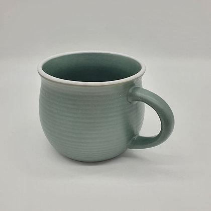 Stoneware Laurel Green Mug