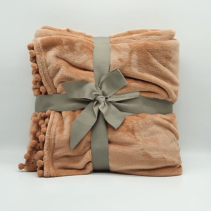 Pink Cashmere Touch Fleece Throw