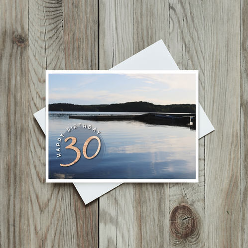 30th, 40th, 50th and 60th Birthday Cards- Paper Birch Art