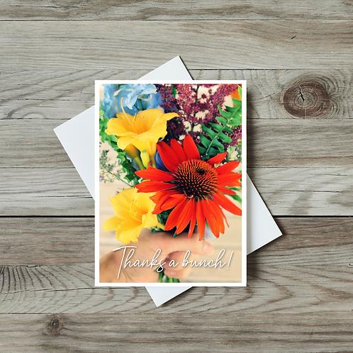 Thanks a Bunch Greeting Card - Paper Birch Art