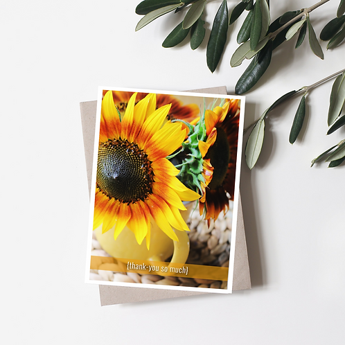 Sunflower Thank You So Much Greeting Card