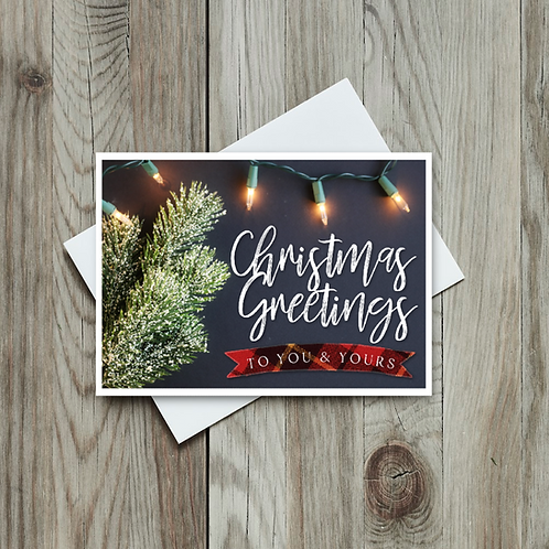 Christmas Greetings Card - Paper Birch Art