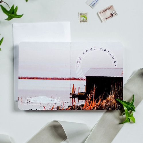 Long Point Happy Birthday Continuous Photograph Card - Paper Birch Art