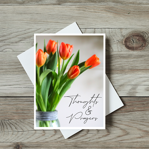 Thoughts and Prayers Greeting Card - Paper Birch Art