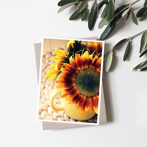 Blank Sunflower Greeting Card
