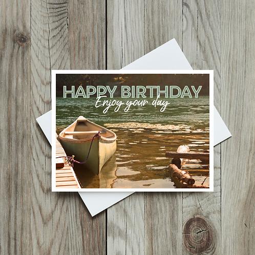 Happy Birthday, Enjoy Your Day Card - Paper Birch Art