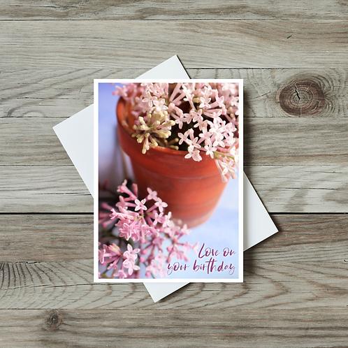 Lilac Happy Birthday Card - Paper Birch Art