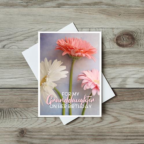 Granddaughter Birthday Card - Paper Birch Art