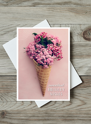Ice Cream Birthday Card - Paper Birch Art