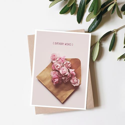 Birthday Wishes - Kraft Envelope Greeting Card