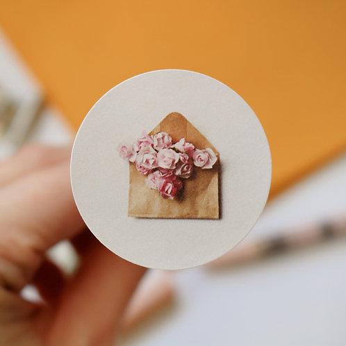 Paper Roses Envelope Seals - Paper Birch Art