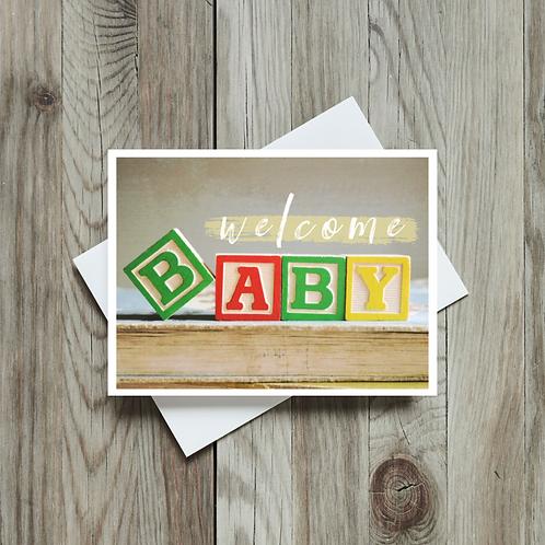 Welcome Baby - Paper Birch Art