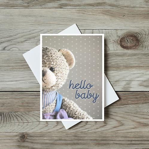 Hello Baby Card - Paper Birch Art
